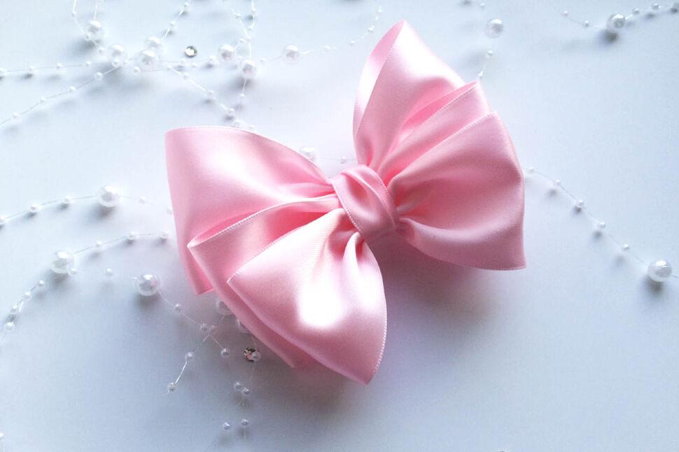 Заколка Бант розовый